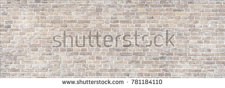 Wide Beige brick wall panoramic background texture. Home and office design backdrop
