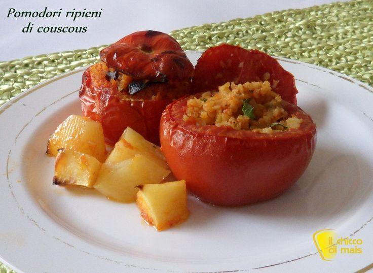 Pomodori ripieni di couscous ricetta piatto freddo il chicco di mais
