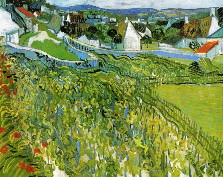 Vincent van Gogh 1853-1890 Vineyards With a View of Auvers 1890