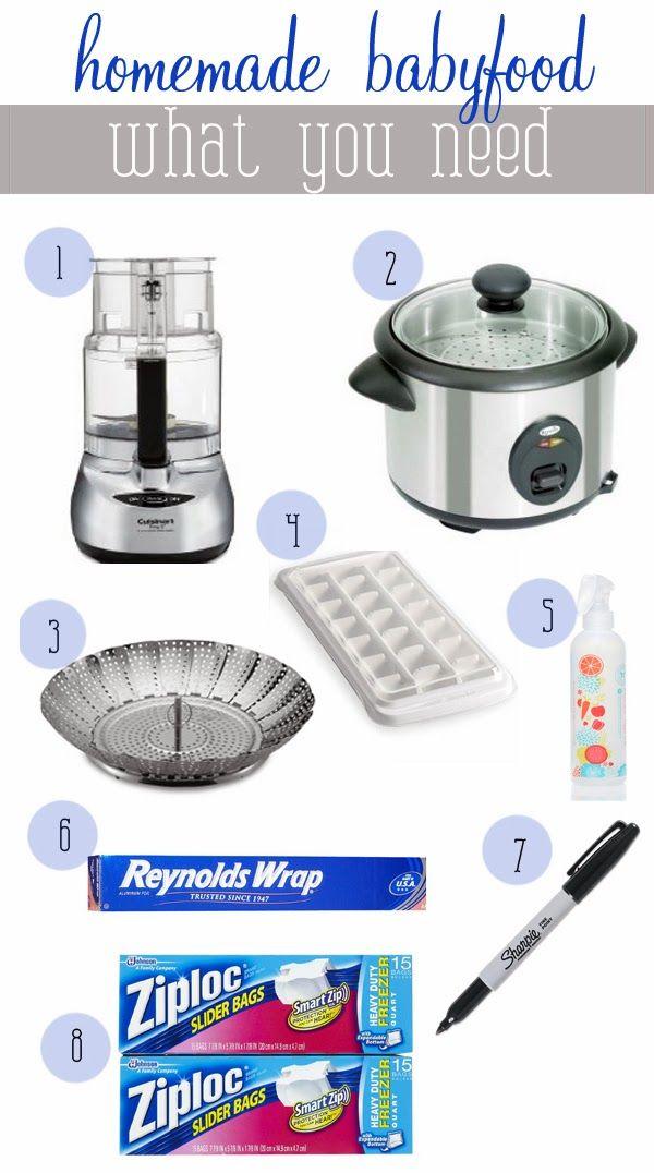 DIY Baby Food Supplies   | Baby Food | DIY Baby Food www.styleyoursenses.com