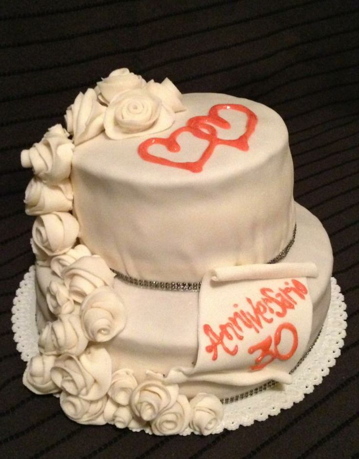 This is the cake of my parents 30's wedding anniversary
