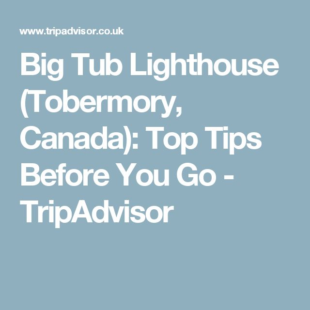 Big Tub Lighthouse (Tobermory, Canada): Top Tips Before You Go - TripAdvisor