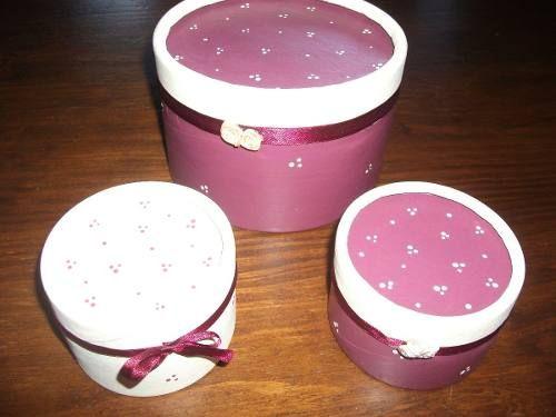 Caja De Carton/souvenirs Pintadas Y Decoradas/artesanales!!