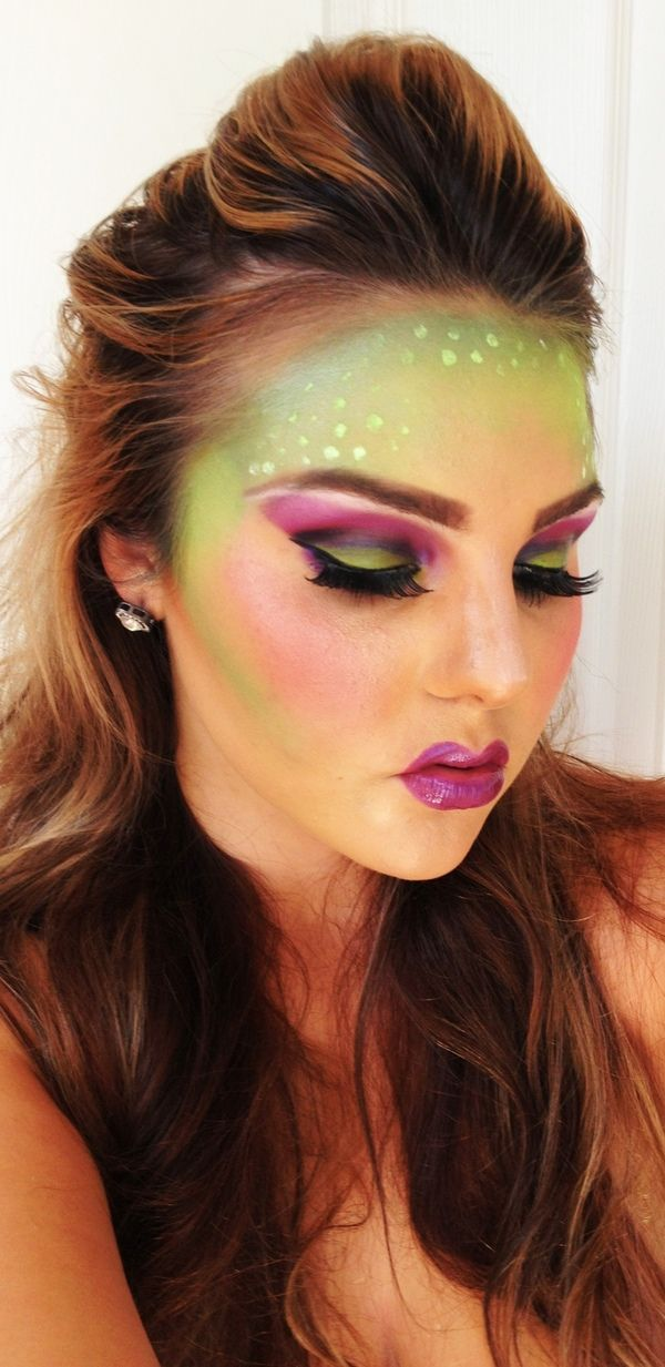 Halloween makeup ! Not sure what you would be a mermaid maybe