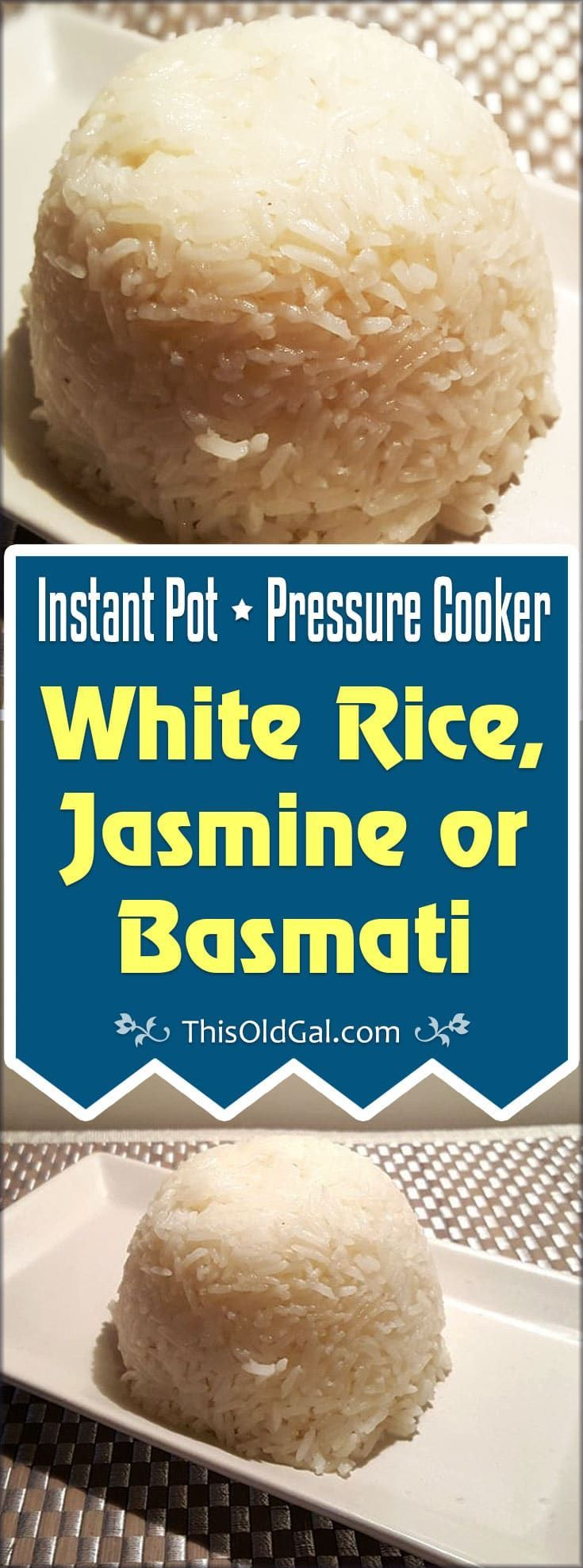 Pressure Cooker White Rice can be made with water or broth and will be on your table in less than 15 minutes with your Pressure Cooker. via @thisoldgalcooks