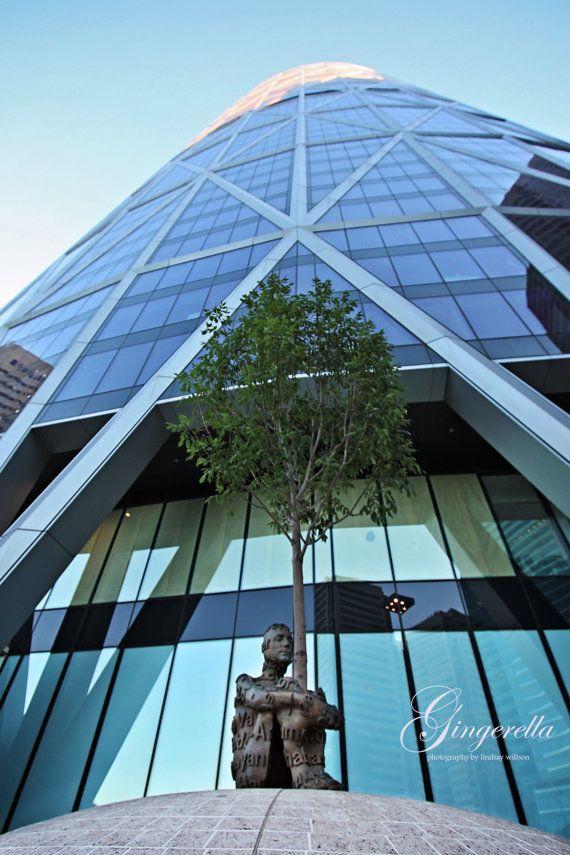 The Bow, Statue, Calgary, Alberta