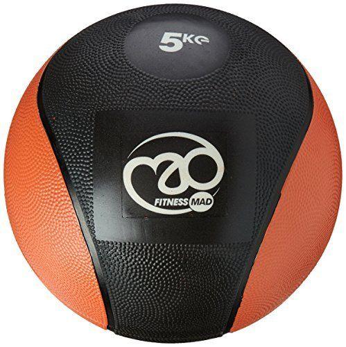 Fitness Mad PVC Medicine Ball - Black/Orange, 5 kg by Fitness Mad. Fitness Mad PVC Medicine Ball - Black/Orange, 5 kg. 5 kg.