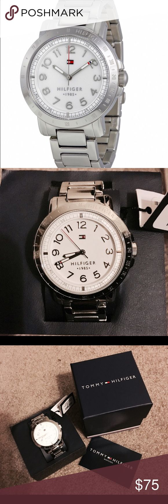 Tommy Hilfiger Stainless Steel 38mm Watch NWT Tommy Hilfiger Stainless Steel 38mm Watch NWT. Model#1781397. Never worn. Comes with box , tags, info card, and box sleeve. Tommy Hilfiger Accessories Watches