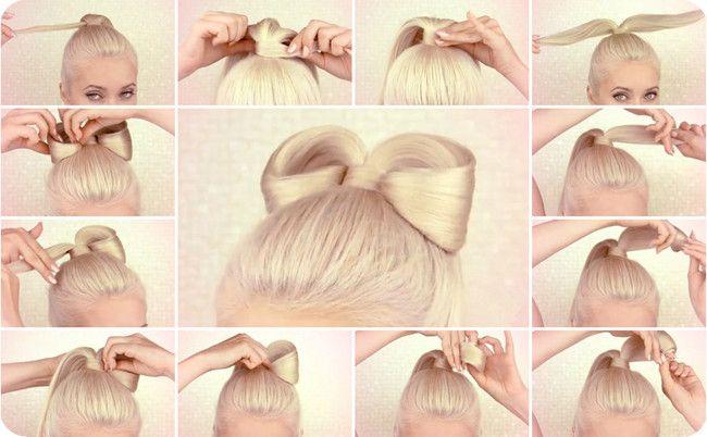 Lady Gaga Schleifenfrisur selber machen Anleitung (mit Clip in Haarverlängerung)/ Lilith Moon hair bow style