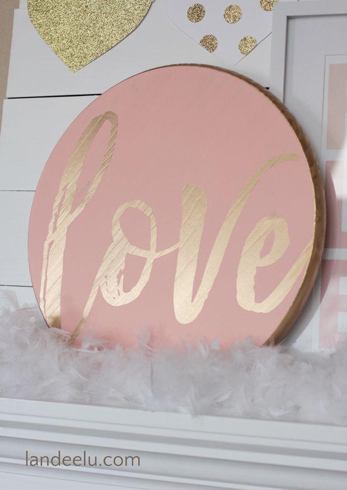DIY Valentine's Day and LOVE Signs - Landeelu