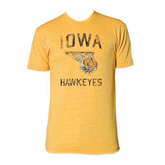 Iowa Hawkeyes Basketball Tee Heather Gold by UndergroundShirts, $19.99
