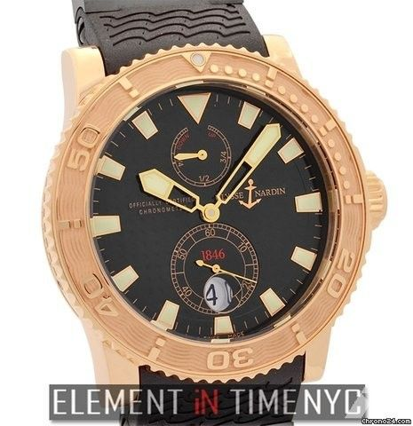 Ulysse Nardin Maxi Marine Diver Diver 18k Rose Gold Black Dial 43mm Ref. 266-33 Price On Request