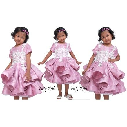 Gown for kid, party dress for kid with lace prada