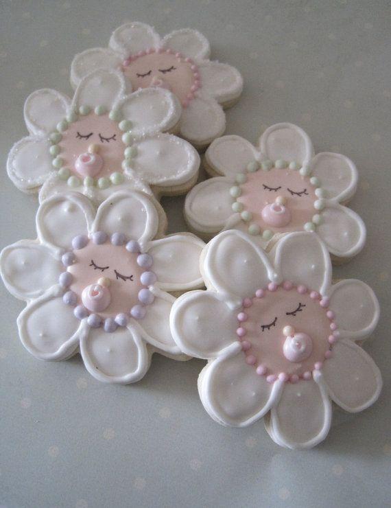 Petal Babies Sugar cookies  1 dozen by justcrumbs on Etsy, $28.00