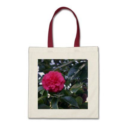 Daikagura Red Camellia Tote Bag - personalize gift idea diy or cyo