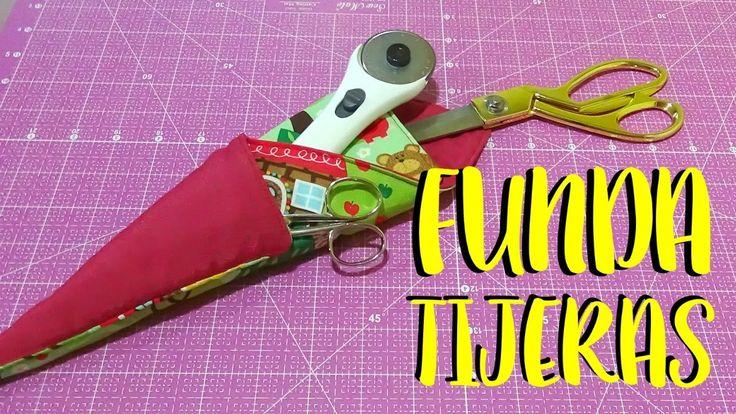 Funda para tijeras y cuter rotatorio. DIY - YouTube