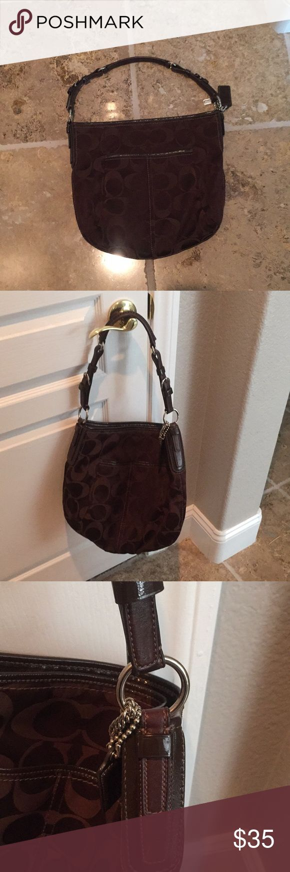 Chocolate Brown Hobo Coach Purse Cute large hobo coach bag. Goes with everything. Silver hardware. Excellent condition. Coach Bags Hobos