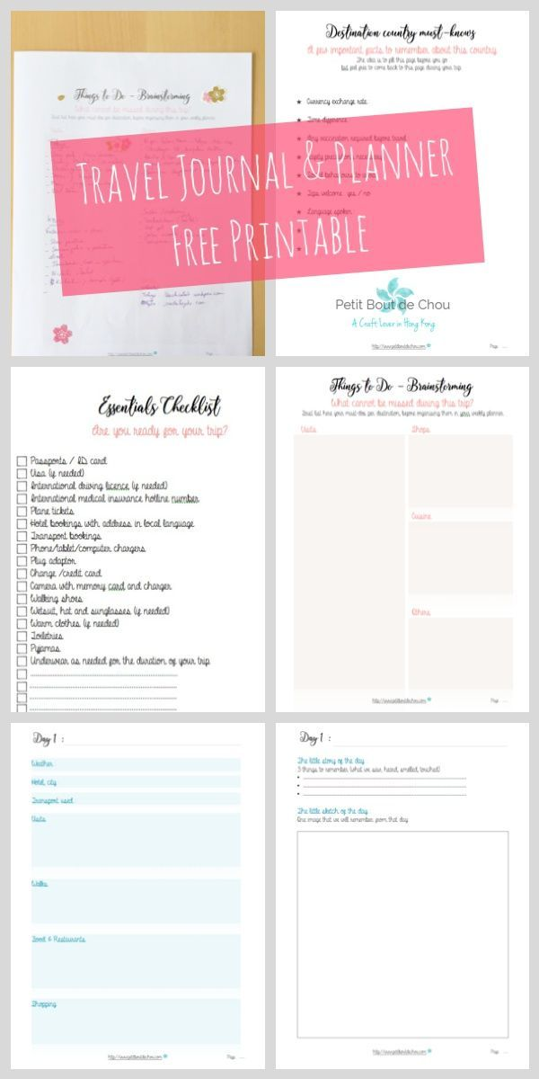 An awesome free travel journal and planner printable with all the essential sheets needed to plan your trip but also to collect your memories in a hassle-free way...