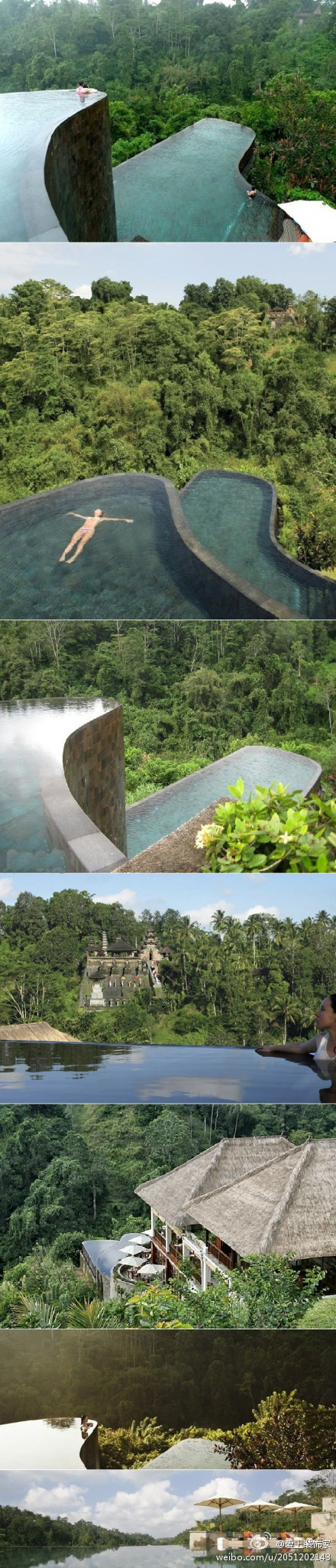 Two-tier infinity pool, Bali Ubud Hanging Gardens Hotel (Ubud Hanging Gardens Hotel)