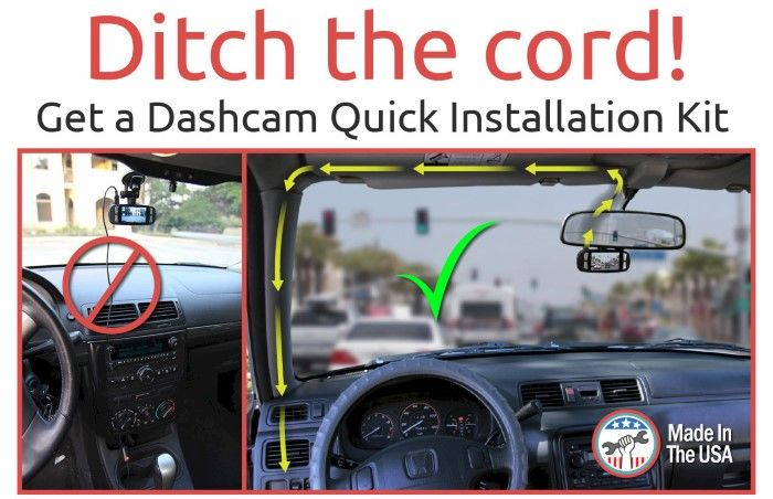 Introducing our patent pending installation kits. These kits allow painless integration of your dashcam, radar detector, or GPS unit with your car's electrical system. Your wiring will not be damaged in any way and can be easily removed. Our kits are proudly made in the USA.