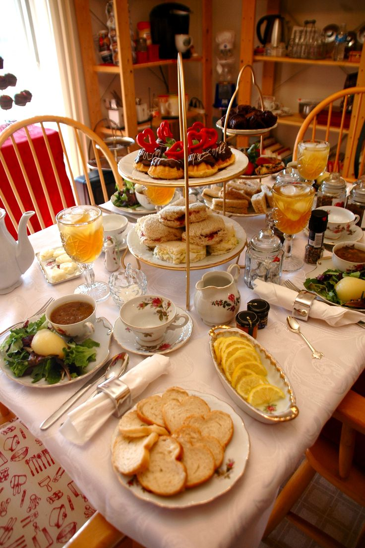 Our Valentine's Tea ♥  Everything looks so beautiful!!