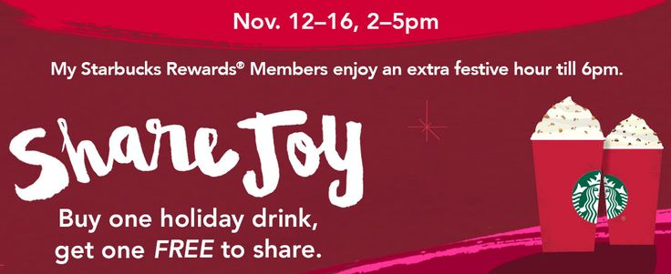 Starbucks BOGO FREE Holiday Drinks! NOW through 11/16! Get the Details!!!