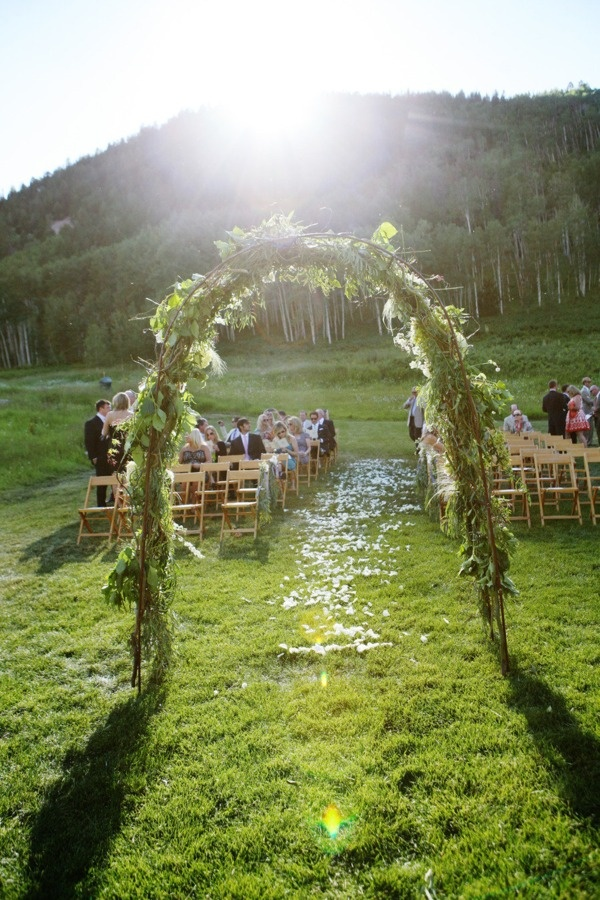Beautiful ceremony spot! via Style Me Pretty