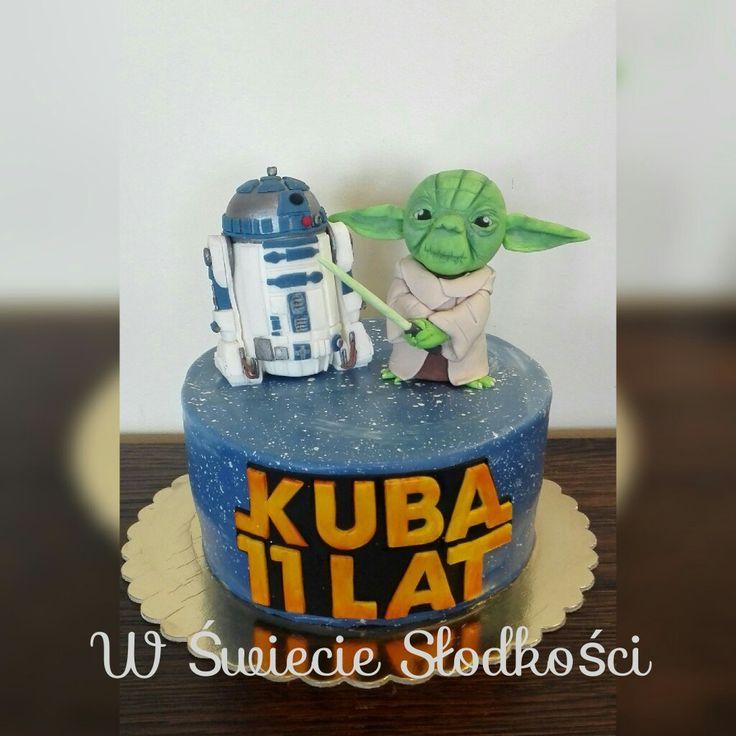 R2D2 & Yoda cake Star Wars