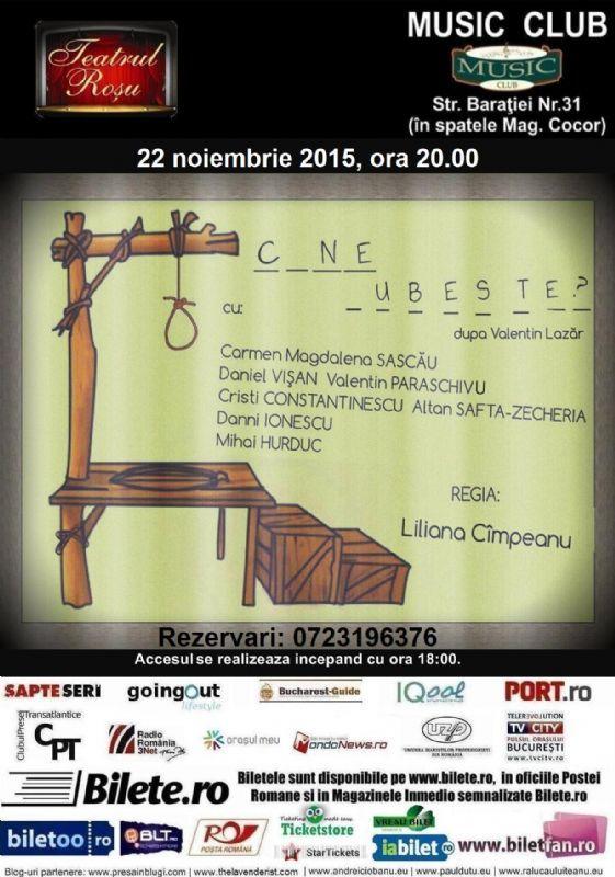 Duminica, 22 Noiembrie 2015, ora 20:00, Music Club, Bucuresti