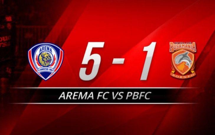 Video Skor Arema FC vs PBFC 5-1 Hasil Final Piala Presiden 2017