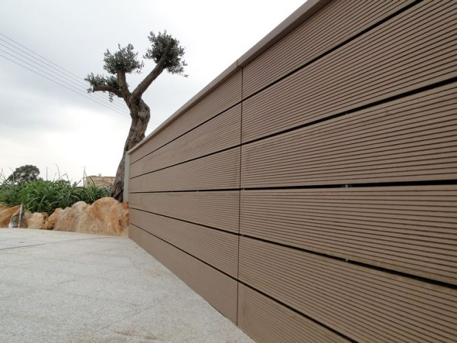 Exceptional Good Workability And Easy To Clean Outdoor Wpc Fence,Outdoor Practical  Materials