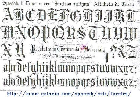 Resultado de imagem para alfabeto gotica inglesa