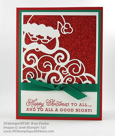 Greetings from Santa swap card shared by Dawn Olchefske #dostamping (Rose…