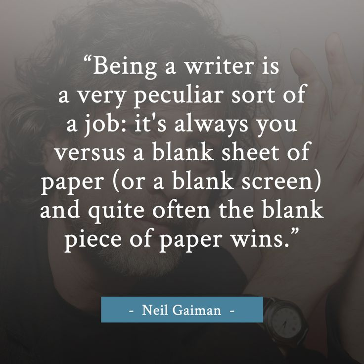 Neil Gaiman writing quote