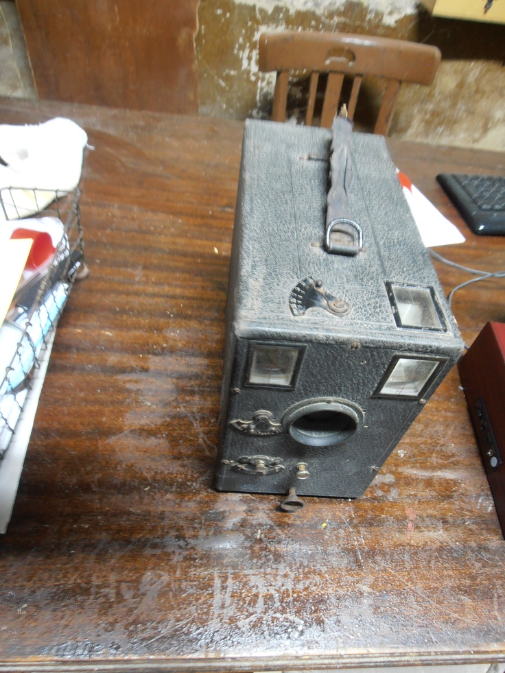 Cámara de fotos antigua caja negra