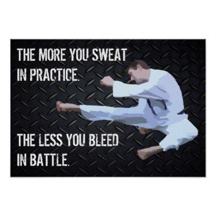 Karate Kick Motivational Life Quote Poster - fitness posters memes motivation meme quote