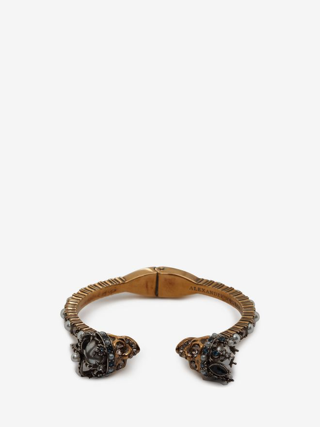 Armband Mit Queen And King Twin Skull | Alexander McQueen