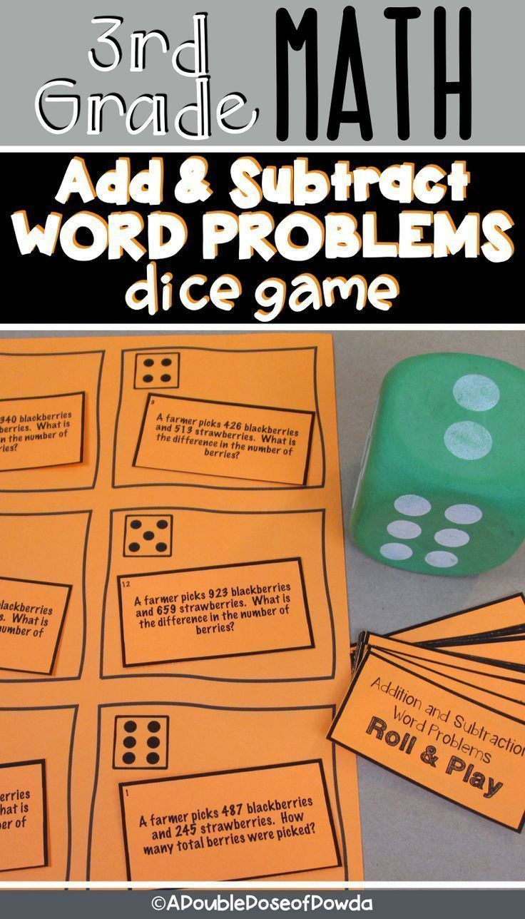 Addition And Subtraction Word Problems Dice Game Let Students Practice Word Problems About How Word Problems Subtraction Word Problems Addition And Subtraction [ 1288 x 736 Pixel ]
