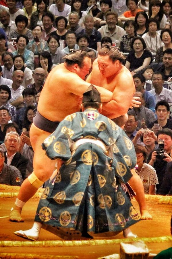 Sumo Tournament . Japan
