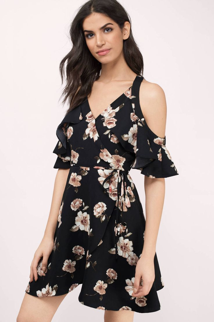 Cassia Floral Cold Shoulder Dress  from Tobi - Designed in LA. Shop the latest. Shop the hottest.