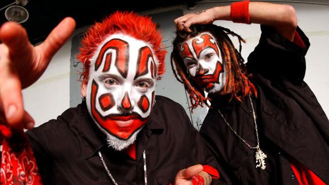 """Insane Clown Posse:Insane Clown Posse is an American hip hop duo from Detroit, Michigan. The group is composed of Joseph Bruce and Joseph Utsler, who perform under the respective personas of the """"wicked clowns"""" Violent J and Shaggy 2 Dope. Insane Clown Posse performs a style of hardcore hip hop known as horrorcore and is known for its elaborate live performances. The duo has earned two platinum and five gold albums.The songs of Insane Clown Posse center on the mythology of the Dark Carnival"""