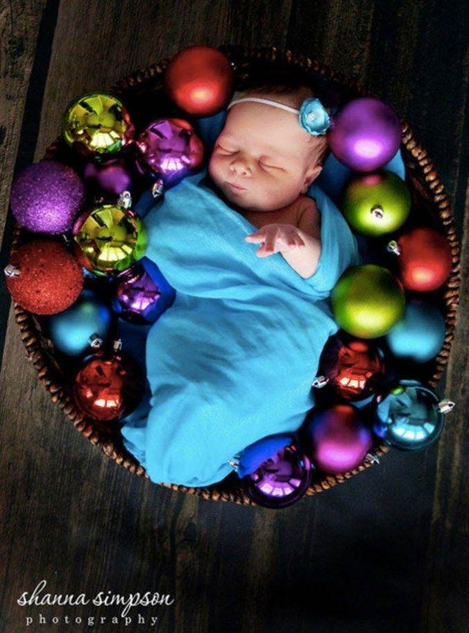 Bildideen für Babys erstes Weihnachtsfest   – Baby photo shoot ideas