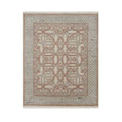 Luke Irwin, Cladius Mosaic Hand Knotted Rug, 8x10', Spice