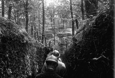 French officers inspecting trenches on the Argonne front in May 1916. Talk about impenetrable.