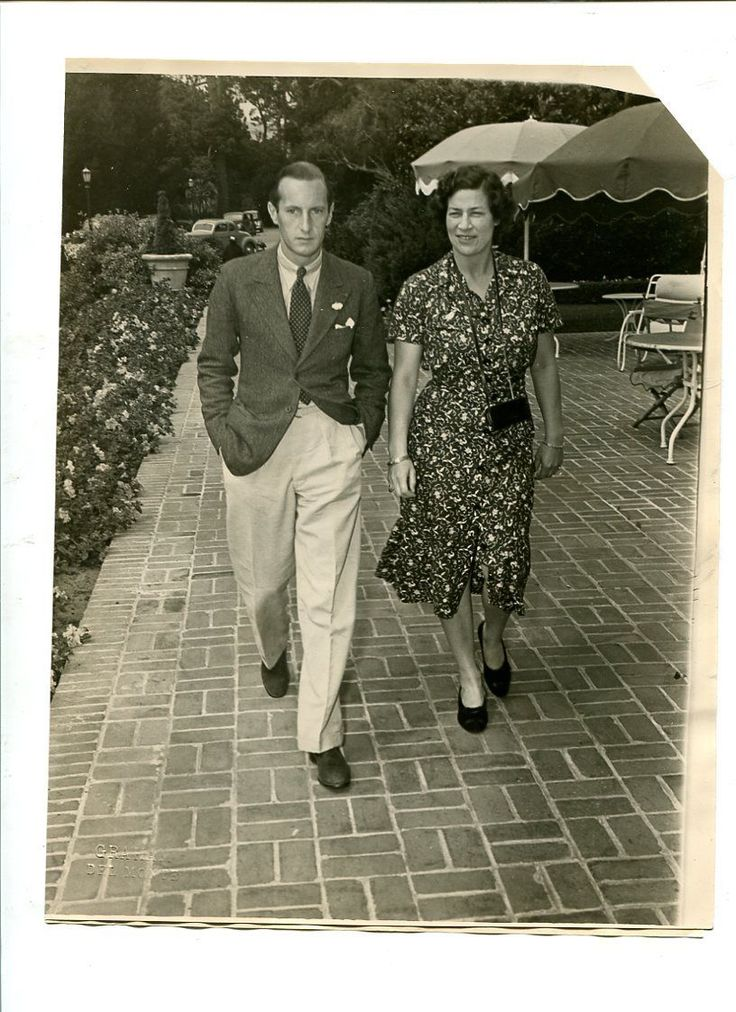 1938  Polish Royalty Prince Radziwill and Princess Eugenie