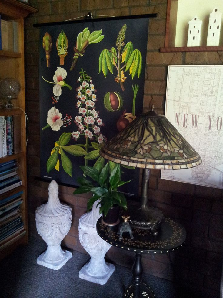Vignette with vintage poster and architectural ephemera