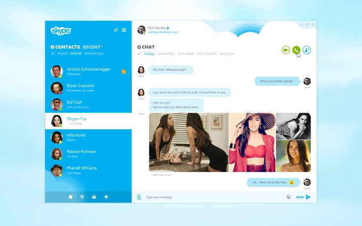 Skype Re-redesign on Behance