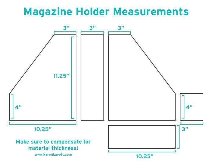 DIY Magazine Holders | Karen Kavett
