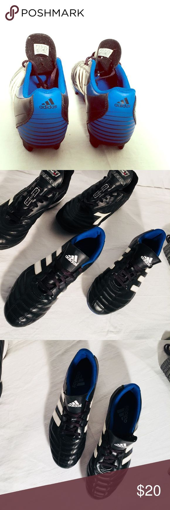 Men's Soccer Shoes Men's Adidas Size 9 Black / Blue Soccer Cleats are in great condition and ready to play! Adidas Shoes Athletic Shoes