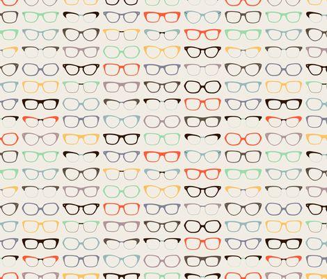 Geek Chic Glasses fabric by zesti on Spoonflower - custom fabric